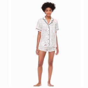 Kate Spade Manhattan Map Pajama Set XL EUC